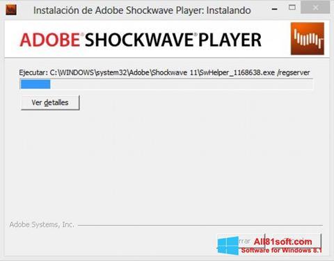 צילום מסך Adobe Shockwave Player Windows 8.1