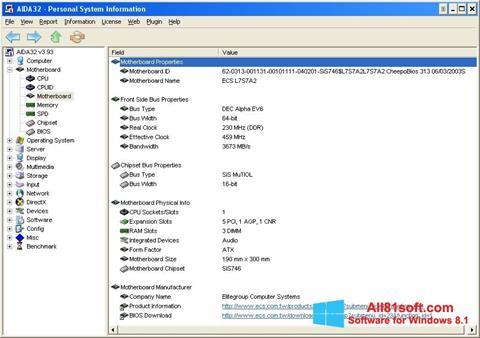 צילום מסך AIDA32 Windows 8.1