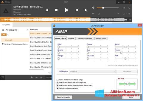 צילום מסך AIMP Windows 8.1