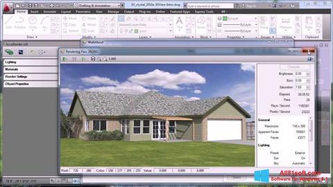צילום מסך AutoCAD Windows 8.1