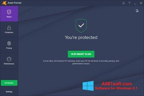 צילום מסך Avast Premier Windows 8.1