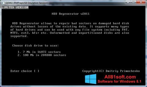 צילום מסך HDD Regenerator Windows 8.1