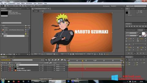 צילום מסך Adobe After Effects Windows 8.1