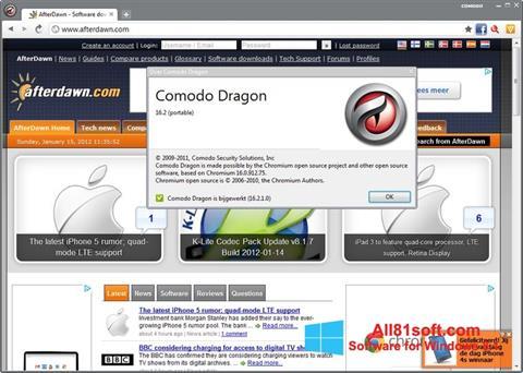 צילום מסך Comodo Dragon Windows 8.1