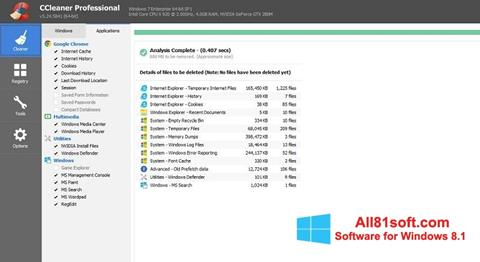 צילום מסך CCleaner Professional Plus Windows 8.1