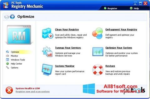 צילום מסך Registry Mechanic Windows 8.1