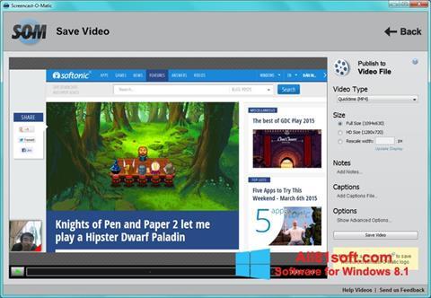 צילום מסך Screencast-O-Matic Windows 8.1