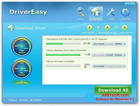 צילום מסך Driver Easy Windows 8.1