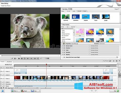 צילום מסך Nero Vision Windows 8.1