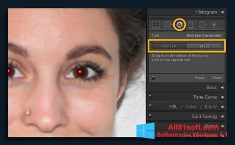 צילום מסך Red Eye Remover Windows 8.1