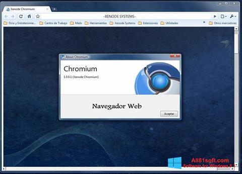 צילום מסך Chromium Windows 8.1