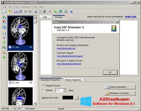 צילום מסך Easy GIF Animator Windows 8.1