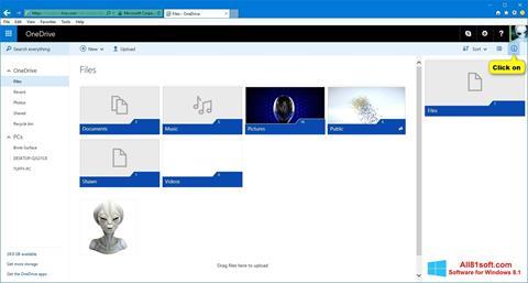 צילום מסך OneDrive Windows 8.1