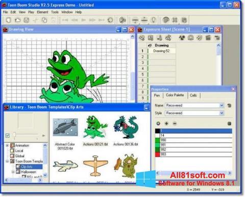צילום מסך Toon Boom Studio Windows 8.1