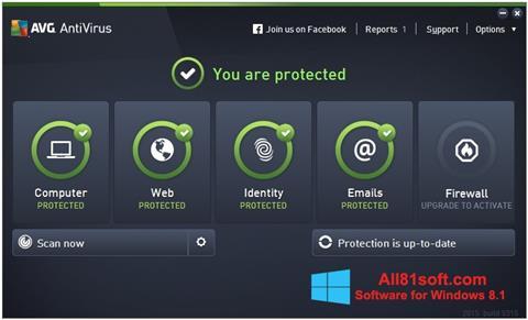 צילום מסך AVG AntiVirus Pro Windows 8.1