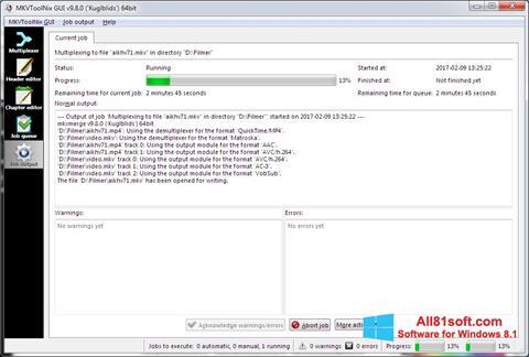 צילום מסך MKVToolnix Windows 8.1