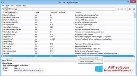 צילום מסך ActivePerl Windows 8.1