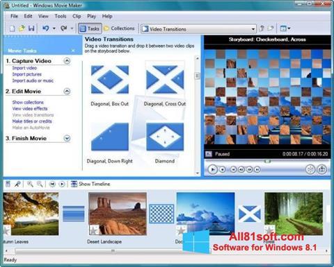צילום מסך Windows Movie Maker Windows 8.1