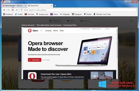 צילום מסך Opera Developer Windows 8.1