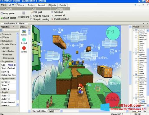 צילום מסך Construct Classic Windows 8.1