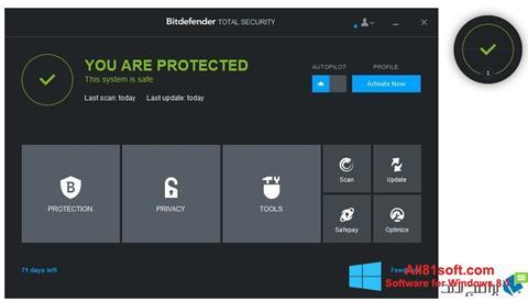 צילום מסך Bitdefender Windows 8.1