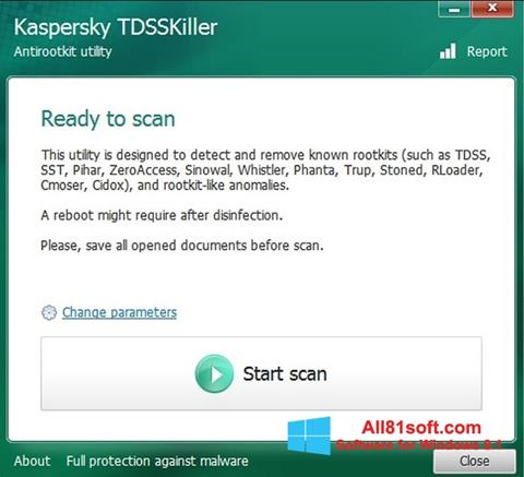 צילום מסך Kaspersky TDSSKiller Windows 8.1