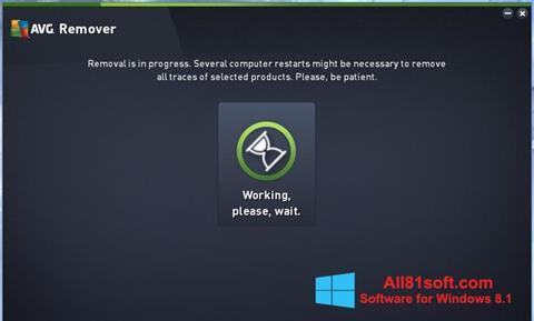 צילום מסך AVG Remover Windows 8.1