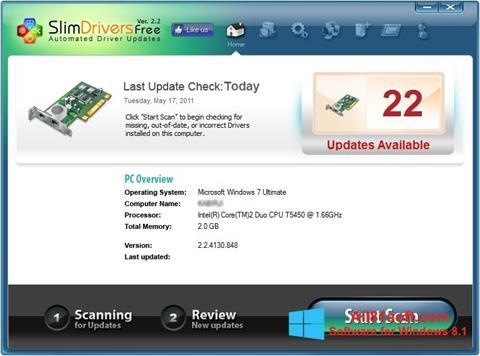 צילום מסך SlimDrivers Windows 8.1