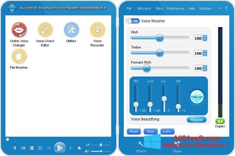 צילום מסך AV Voice Changer Diamond Windows 8.1