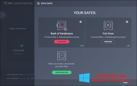 צילום מסך AVG Internet Security Windows 8.1