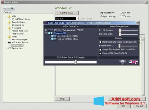 צילום מסך ASIO4ALL Windows 8.1