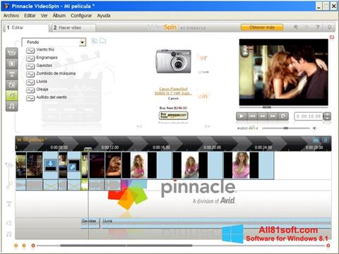 צילום מסך Pinnacle VideoSpin Windows 8.1