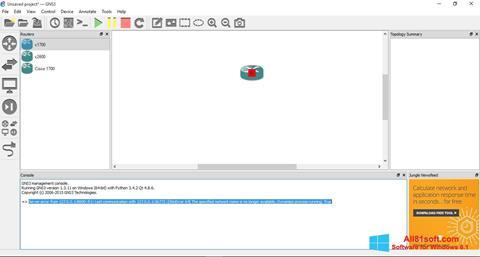 צילום מסך GNS3 Windows 8.1