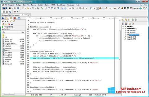 צילום מסך PSPad Windows 8.1