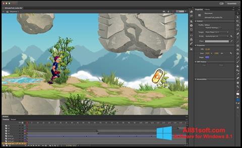 צילום מסך Adobe Flash Professional Windows 8.1