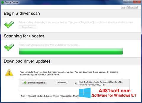 צילום מסך Device Doctor Windows 8.1