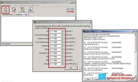 צילום מסך Cisco VPN Client Windows 8.1