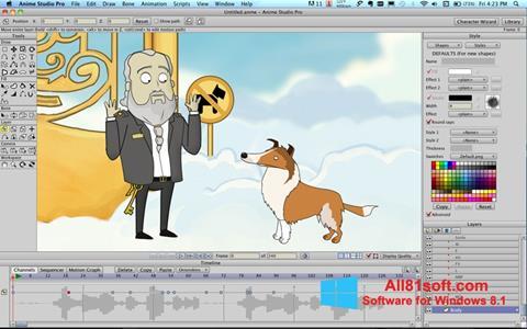 צילום מסך Anime Studio Windows 8.1