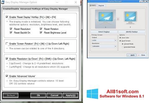 צילום מסך Easy Display Manager Windows 8.1