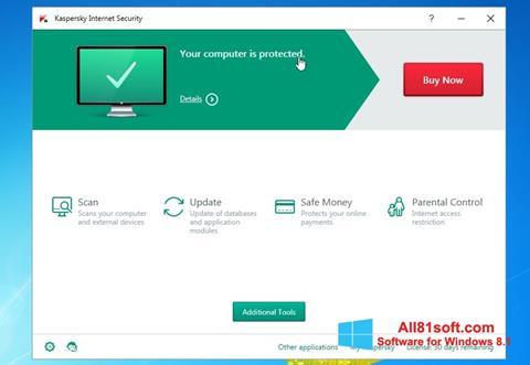 צילום מסך Kaspersky AntiVirus Windows 8.1