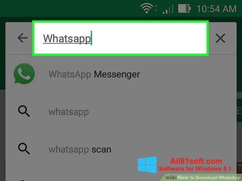 צילום מסך WhatsApp Windows 8.1