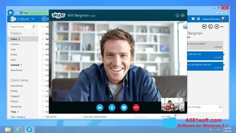 צילום מסך Skype Windows 8.1