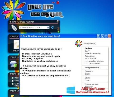 צילום מסך LinuxLive USB Creator Windows 8.1