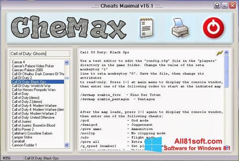 צילום מסך CheMax Windows 8.1