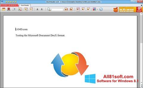 צילום מסך DocX Reader Windows 8.1