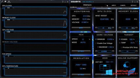 צילום מסך GIGABYTE OC Guru Windows 8.1
