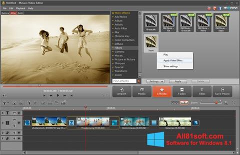 צילום מסך Movavi Video Editor Windows 8.1
